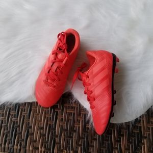 Adidas Soccer Cleats Boy Shoes Size 1 Neon Coral